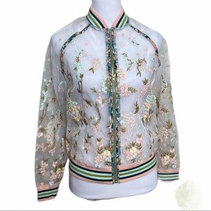 Anthro Anna Sui NWT Embroidered Bomber Jacket S